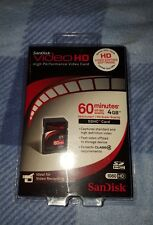Brand New Sandisk Video HD Memory Card 4GB 30 Min SDHC High Definition