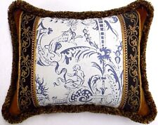 Fortuny Style, French Toile Designer accent Throw Pillow