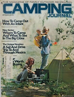 Camping Journal Sept 1974 Vtg Magazine Camping With Infant Baby - Mexico Trip VG