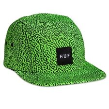 Huf MEMPHIS BOX LOGO VOLLEY Lime Green Black 5 Panel Cap Adjustable Men's Hat