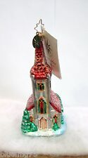 Radko Ornament Blessed Tidings #1010155 Chapel Church Steeple New With Tag (R50)