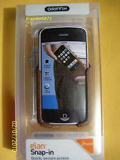 Griffin Brown ELAN SNAP-IN Case w/Clip 4 Orig iPhone