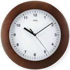 AMS 41 Radio orologio parete, color noce da cucina UFFICIO Vetro minerale 363