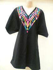 PURE COTTON EMBROIDERED DRESS BY SOFT GREY PLUS SIZE 20 UK (EU 48)