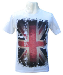 Mens T-shirt Funny Vintage Retro Union Jack Flag English Tee Shirt Cool Tshirt