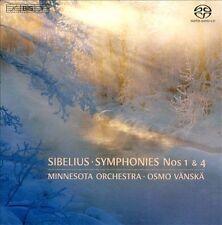 Sibelius: Symphonies No. 1 & 4 [Osmo Vänskä; Minnesota Orchestra] [Bis: Bis1996]