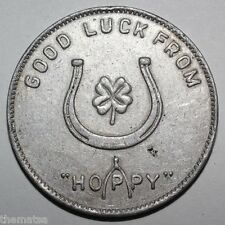 HOPALONG CASSIDY WILLIAM BOYD COIN  GOOD LUCK FROM HOPPY