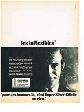 PUBLICITE ADVERTISING  1981  GILETTE super silver  lame de rasoir