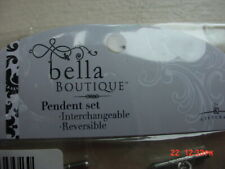 New Bella Boutique Interchangeable Reversible Pendant Set