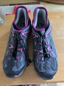 Pearl Izumi Clip In Training Cycling Sneakers Gray and Purple Size EUR 40