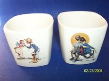 Two Norman Rockwell Vases Ftd Limited Edition Made in Korea