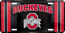 Ohio State Black License Plate Sign Metal Tag Truck Car Auto Made in the USA