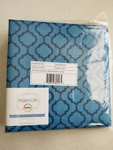 "Becky Higgins Project Life Blue Lattice 6""x 8"" Printed Photo Binder Album 380557"
