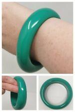 Green Bangle Retro Bold Asymmetric Chunky Bracelet Statement Iris Apfel Style