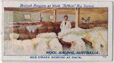 Baling Sheep's Wool In Australia  1920s Trade Ad Card