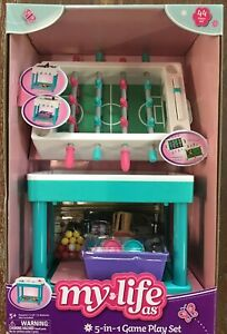 """My Life As 5-In-1 Game Play Set Air Hockey Bowling 44 Piece (for any 18"""" Doll)"""