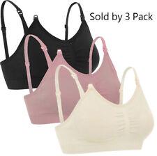 3-Pack Maternity Nursing Bra Breastfeeding with Pads Breast Feeding Tank Top