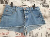 River Island Denim Shorts Hot Pants size 10 UK Holiday Summer