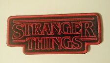 Stranger Things Patch Embroidered IRON or Sew on Fast Delivery