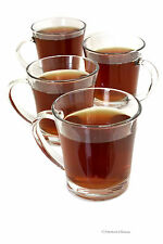 Set 4 Clear Heat Resistant 12oz Glass Morning Mug Irish Iced Coffee Cup Tea Mugs
