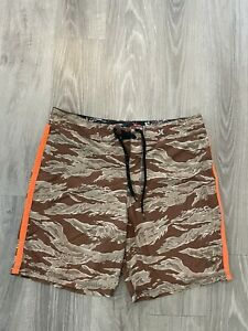 Mens Hurley Blue Aqua Swim Trunk Boardshorts Size 32 Phantom Camo