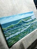 """Art10""""/20""""oil painting,seascape,ocean,waves,surf, landscape,"""