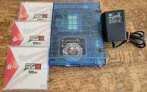 iOmega Zip Z100USB External USB 100MB Drive w/Power Supply & 3 Zip Disks *TESTED
