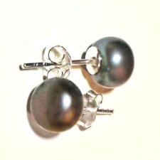 Markenloser Ohrschmuck mit Perlen aus Feinsilber