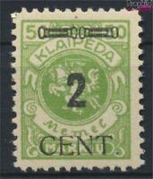 Memelgebiet 185 postfrisch 1923 Aushilfsausgabe (9222663