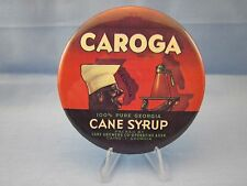 CAROGA  CANE SYRUP BLACK AMERICANA  NEGRO ADVERTISING Pinback, Pin, Button  NICE