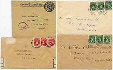 NIGERIA KG6th WW2 GERMANY + GB 1939 CENSORS OHMS + 3 x 1/2d 1950...4 ITEMS