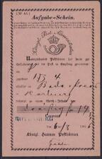 Hannover Aufgabeschein 1866 mit blauem L1 Rottenburg , Altdeutschland
