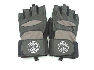 Gold's Gym Wrist Wrap Weightlifting Gloves Black Grey Medium / Large M/L