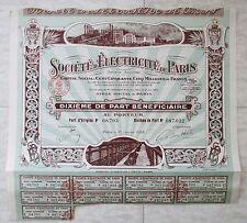 1935 Société d'Electricité de Paris. Dixième de Part Bénéficiaire
