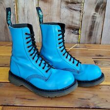 💥Solovair England MIE Dr. Martens Electric Blue Leather Steel Boots UK5 US7💥