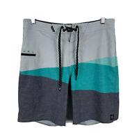 RipCurl Mens Board Shorts Size 30 Multicoloured Drawstring Colour block