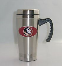 Florida State Seminoles 14 oz Stainless Steel Travel Mug w/ Handle Football NCAA