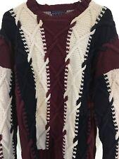 edf15291e1494e Tommy Hilfiger Men's Sweater Vintage Size M Red White Blue 100% Cotton  1980's