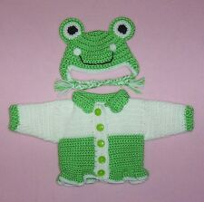 """American Girl Sweater Doll Clothes Green Frog Sweater Hat Fits American Girl 18"""""""