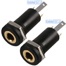 2 x 2.5mm Mini Stereo Jack Chassis 3 POLE 3P Panel Mount Input Socket Connector