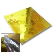 "Metallic Gold Heat Reflector Barrier Tape Sheet 20""x 20"" VW Mk4 Mk5 1.8t R32"