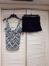 Lands' End Beach Living Tankini & Swim Skirt, Sz. 4, NWT $108