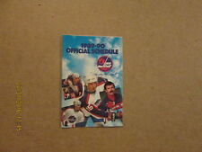 NHL Winnipeg Jets Vintage 1989-90 Pocket Schedule