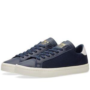 Adidas Originals Court Vantage Navy Blue Women Sneakers Size EUR 36.5