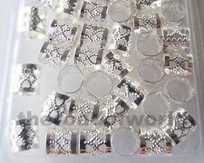 Dread Lock Beads Silver Metal Hair Accessories Jewelry Filigree Dreadlocks 10mm