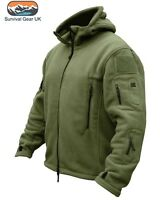 Olive Green Recon Tactical Fleece Hoody Military Forces Airsoft Army Security