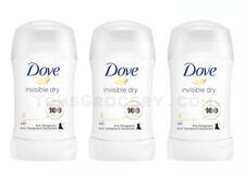 3 x DOVE Invisible Dry Women Anti Marks Deodorant Antiperspirant Stick 48h 40ml