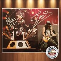 Axel Rose Slash Autographed Signed 8x10 (GUNS N ROSES) Photo REPRINT