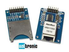 Enc28j60 Ethernet Rete LAN MODULO SD card modulo rj45 modulo Arduino Atmel 16