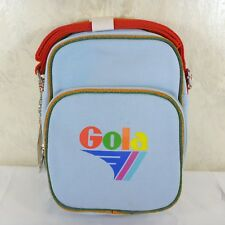 Gola Pale Blue Denim Canvas Mini Flight Bag Purse Maclaine Rainbow England Nwt!